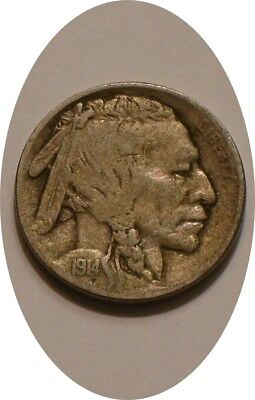 1914 P BUFFALO Nickel nice Original FULL DETAIL