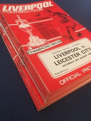 Liverpool Home Programmes 1966 / 1967 Season X21 including Cup Matches
