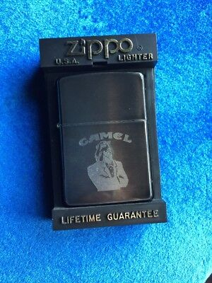 RARE 1993 Midnight Chrome Prototype Joe Camel Tuxedo Joe Z71 Zippo Lighter
