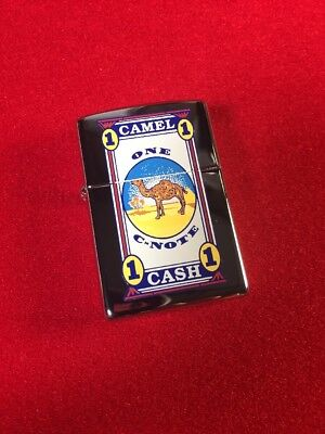 Camel C-Note 1998 Prototype High Polish Chrome Z445 Zippo Lighter RARE
