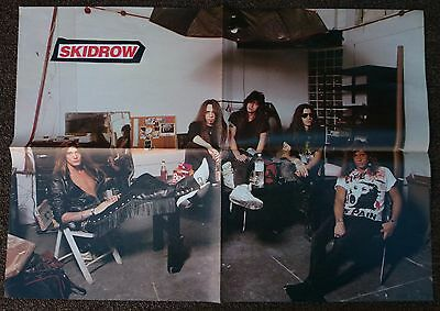 Vintage 4 page fold out magazine poster 2 sided - Skidrow / James Hetfield
