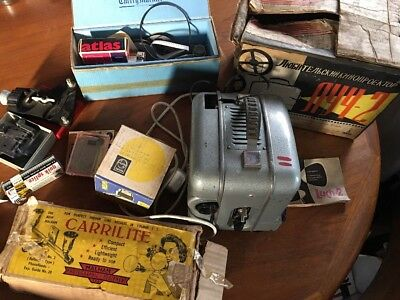 Rare Vintage Russian OMO  / Luch 2 Cine Movie Projector + Carrilite and extras