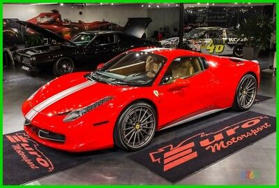 2013 Ferrari 458 WELL EQUIPPED HUGE UPGRADES $$$ RED OVER TAN HIDES BADGES, CALIPERS DAYTONAS HUGE UPGRADES!