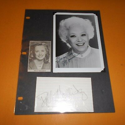 Dana Andrews, Jeff Donnell, Polly Holliday & Studs Terkel Hand Signed 4 Items