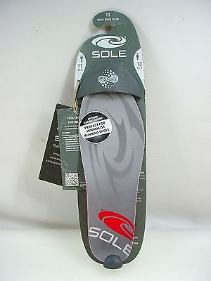 Sole Thin Sport Footbeds Custom Orthotic Moldable Shoe Insoles Inserts Mens 11 b