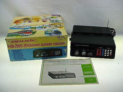 Realistic Scanner Receiver Realistic Pro 2020 20 Channel Scanner W- Box Manual