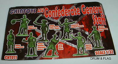 CHINTOYS cht011 ACW CONFEDERATE GENERAL STAFF. AMERICAN CIVIL WAR. 1/32. c60mm