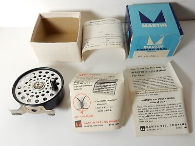 NOS UNUSED MARTIN No 60 FLY FISHING REEL IN BOX w/ paperwork