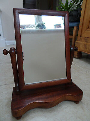 Antique Victorian Swing Frame Mahogany Dressing Table Mirror