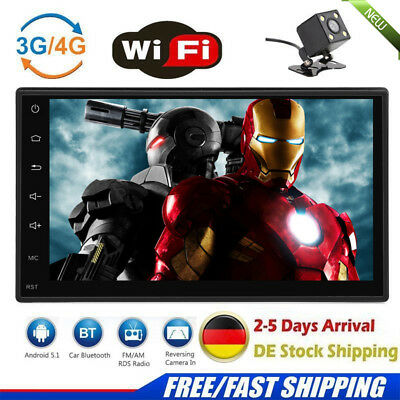 """7"""" 2 DIN Android 5.1 Autoradio GPS Navi Car Stereo MP5 Player 1080P Touch screen"""