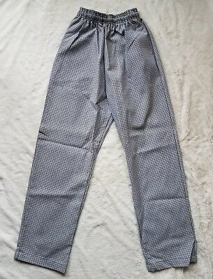 Chef Revival Houndstooth Chef Pants Baggy Fit Black/White sz XS EUC