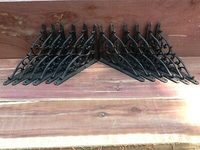 12 Leaf & Vine Shelf Brace Shelf Bracket Corbel Cast Iron Rustic  FREE SHIPPING