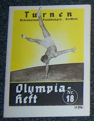 OLYMPICS 1936  Booklet  No. 18 - Gymnastics   (B).
