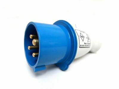 Lewden 4 Pin 16A IP44 3 Phase 3P+E Industrial Plug