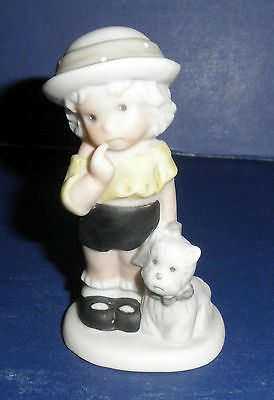 Enesco Pretty As A Picture #487678 A Fathful Friend is a Treasure- New-RETIRED