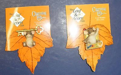 Fitz & Floyd Charming Tail- Tail Club Pins- New