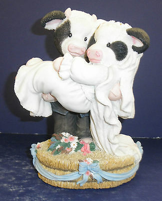 Enesco Mary's Moo Moos -186082-Musical Wedding Couple -New in Box