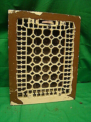 Antique Late 1800'S Cast Iron Heating Grate Honeycomb Design 14 X 11 Dfh