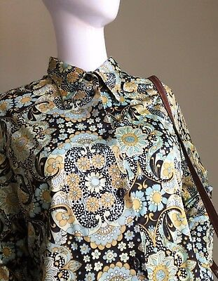 VINTAGE 60s psych LADIES Dagger Collar Shirt or Micro Mini -Vtg Mod RETRO -18/20