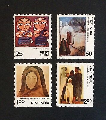 India 1978. Modern India Paintings. Set of 4 MNH