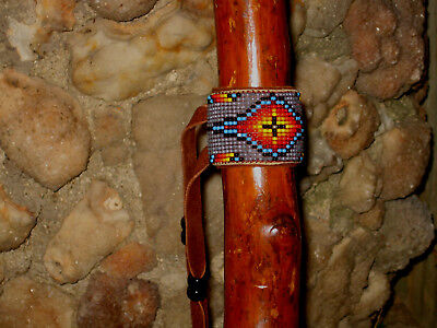 New~-Well Made In Usa  Beaded Flute  Wrap ~Fits Most Native American Flutes