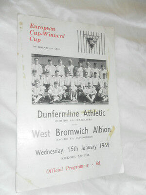 1969 Ecwc Dunfermline Athletic V Wba West Brom