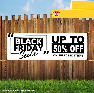 Black Friday Sale Up To 50 % OFF Discoun Outdoor Heavy Duty PVC Banner Sign 2060