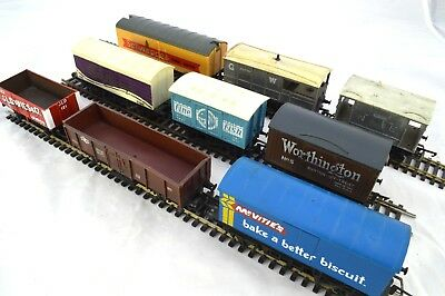Collection of 9 x OO Gauge model railway wagons Hornby LIMA Grafar USED