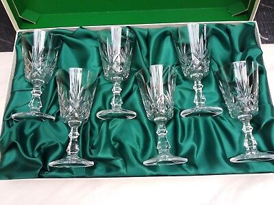Edinburgh Crystal - The Continental Collection 6 Lead Crystal Wine Glasses