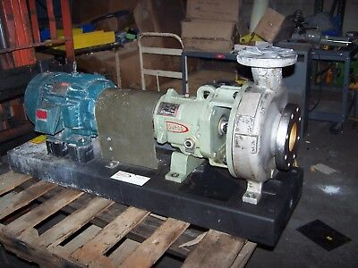 Durco Flowserve 10 Hp Stainless Steel Centrifugal Pump 2K4X3-10/92 74 Tdm