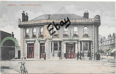 Early Colour post card of The Grove Hotel, Merton, Surrey