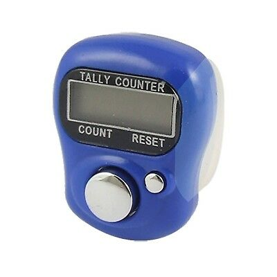 uxcell Adjustable Soft Band Royal Blue Housing Resettable Finger Counter