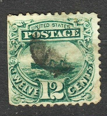US # 117 used, series 1869 cv= $ 160