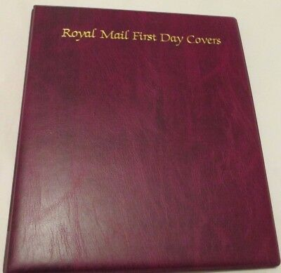 Used Royal Mail First Day Cover Album with 17 leaves - very good condition