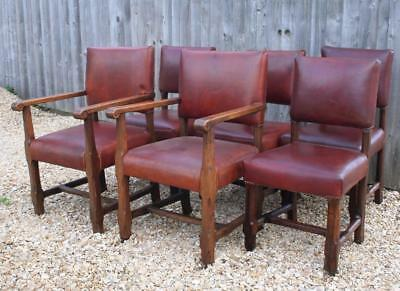 Set 6 Victorian Gothic Revival Dining Chairs after Augustus Pugin- 99p no res