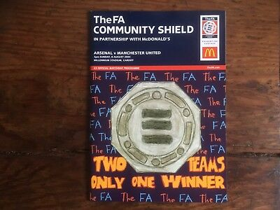 Charity Shield Aug 2004 Arsenal v Manchester Utd at Cardiff Mint