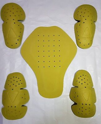 Motorbike Clothing Armour Protector For Elbow & Back & Shoulder Ce Proved Yellow
