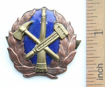 Russia USSR Firefighter Cap Badge Fireman Old Type