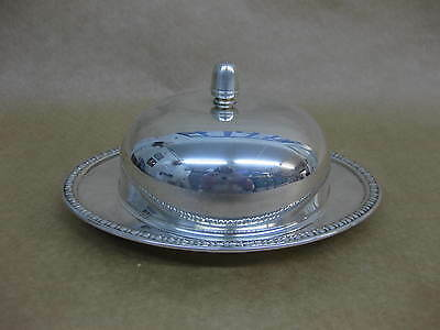 Vintage Silver Plated Butter Dome ~ Falstaff ~ Butter Dome With Glass Insert