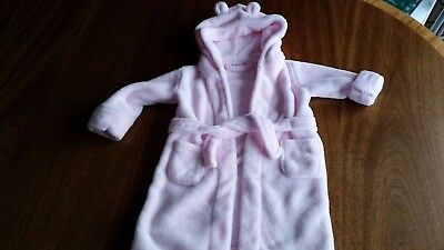 baby girl 18/24 mth pink fleecy dressing gown Babytown