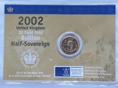2002 HALF GOLD SOVERIEN ** Limited Edition of 100,000**
