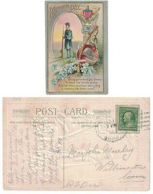 1907 Postcard, Military Themed Memorial Day