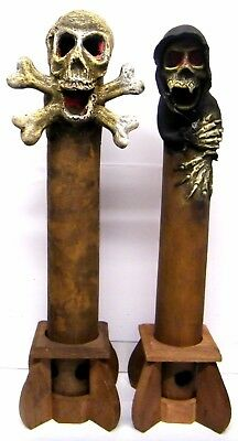 Large Incense Holder Skeleton Or Skull & Crossbones Halloween Gothic 40cm