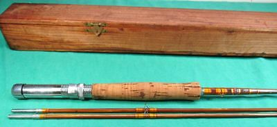 NFT Occupied Japan Bamboo Fly Rod 7 1/2' 2 Piece 2 Tip Unusual Configuration EX!