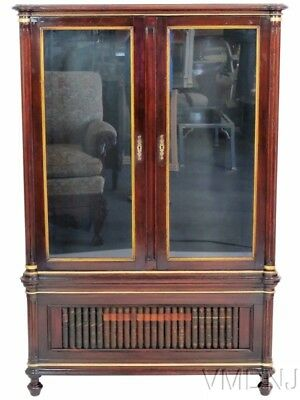 VMD1523 Directoire Style Bookcase with Faux Books