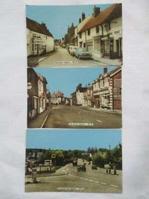 3 Vintage Bagshot Photograph Postcards, The London Road & High Street