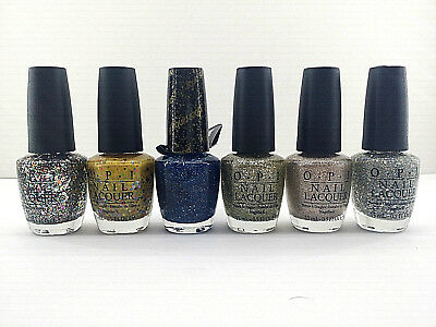 Lot of 5 OPI Holiday Glitters Shimmers Nail Polish Lacquer Christmas Gifts