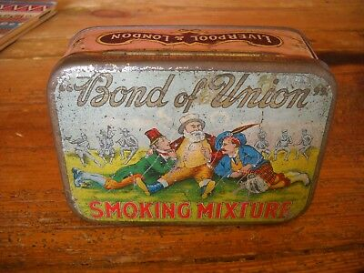 Vintage Bond Of Union Ireland / England Tin