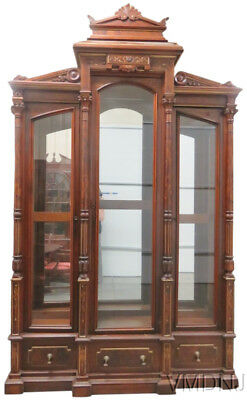 VMD492-Magnificent Monumental Victorian Renaissance Style Bookcase Curio