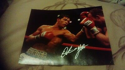 arturo gatti autographed photo 10x8, rare boxing legend